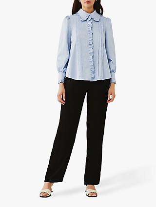 Ghost Isabella Frill Blouse, Light Blue