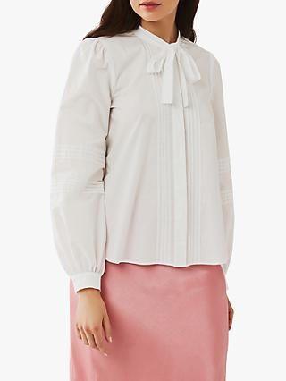 Ghost Becki Tie Neck Blouse, White