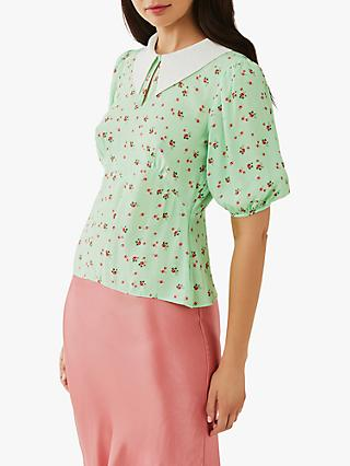 Ghost Phoebe Floral Crepe Top, Lola Rose Ditsy
