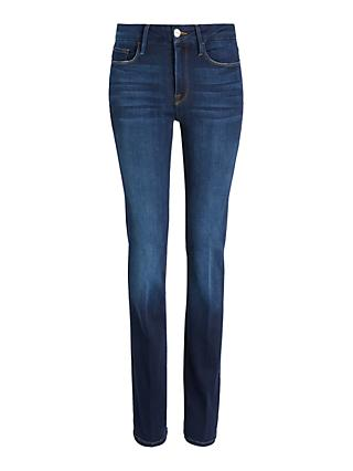 FRAME Le Mini Bootcut Jeans, Navy