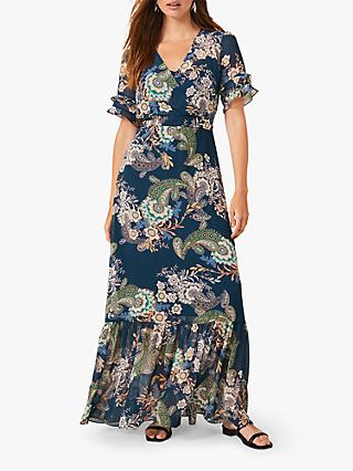 Phase Eight Blaire Paisley Maxi Dress, Petrol