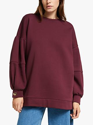 Mother of Pearl Organic Cotton Puff Sleeve Mop Sweatshirt