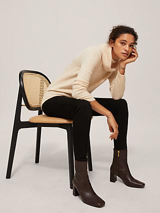 John Lewis & Partners Wool Blend Cowl Neck Sweater, Neutral