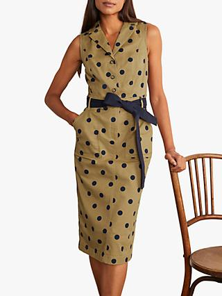 Boden Edith Midi Dress, Camel