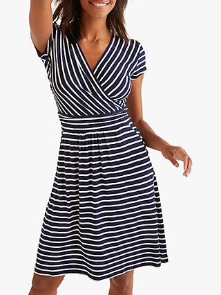 Boden Lola Stripe Jersey Dress, Navy