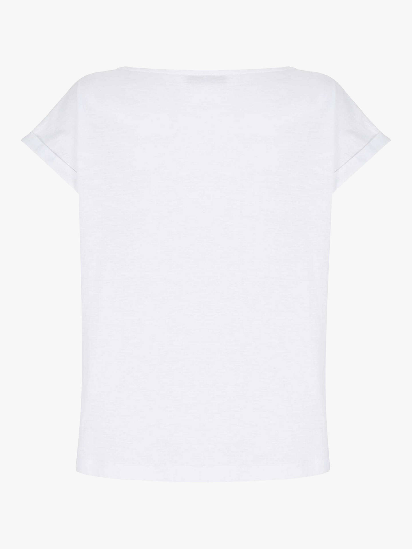Buy Mint Velvet Sara Star T-Shirt, White, L Online at johnlewis.com