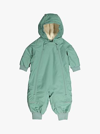 Polarn O. Pyret Baby Waterproof Shell Overall, Oil Blue
