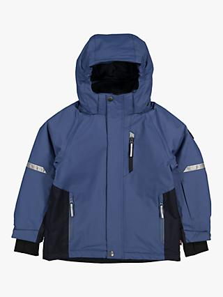 Polarn O. Pyret Children's Waterproof Padded Coat, Ensign Blue