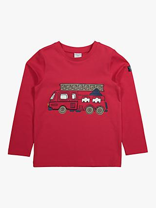Polarn O. Pyret Baby GOTS Organic Fire Engine Top, Red