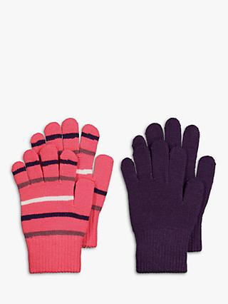 Polarn O. Pyret Children's Magic Gloves, Pack of 2, Pink