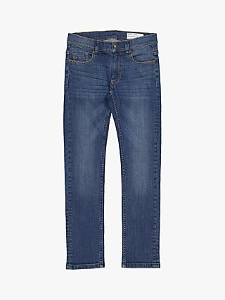 Polarn O. Pyret Organic Cotton Children's Slim Jeans, Blue