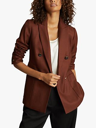Reiss Finley Button Jacket, Tobacco