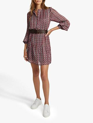 Reiss Celia Abstract Print Mini Dress, Multi