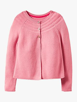 Mini Boden Girls' Cotton Blend Cardigan, Formica Pink