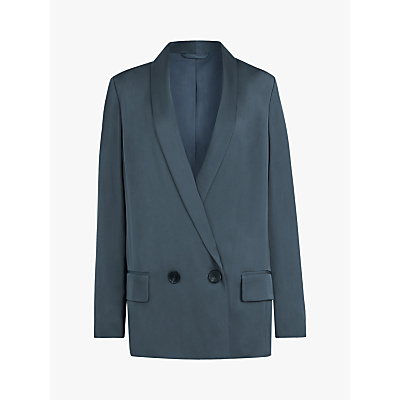 AllSaints Rafaella Relaxed Fit Blazer, Blue