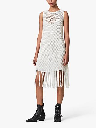 AllSaints Jesa Lace Midi Dress, White