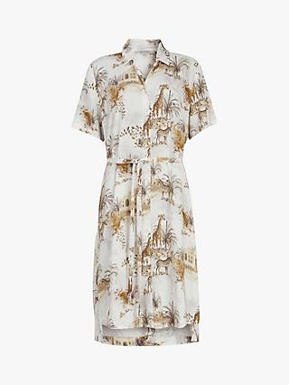 AllSaints Athea Tajpur Dress, White/Multi