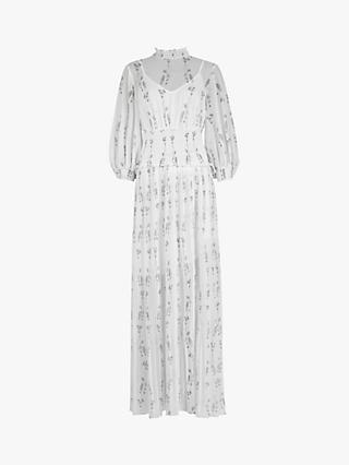 AllSaints Delfi Varanasi Dress, White/Multi