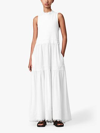 AllSaints Tier Maxi Dress, White
