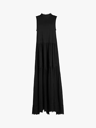 AllSaints Tier Maxi Dress, Black