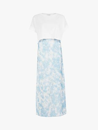 AllSaints Imo Tie Dye Maxi Dress, Blue