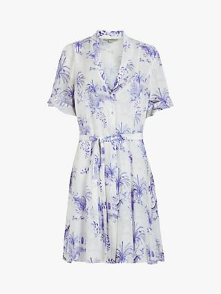 AllSaints Fay Tajpur Floral Dress, Blue