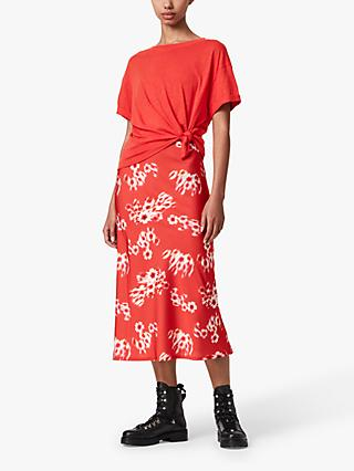 AllSaints Lenni Jasmine Floral Maxi Dress, Red