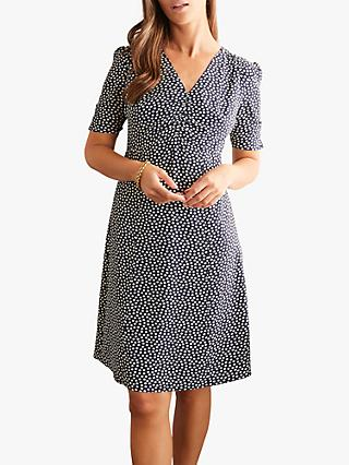 Boden Jemima Puff Sleeve Dress, Navy