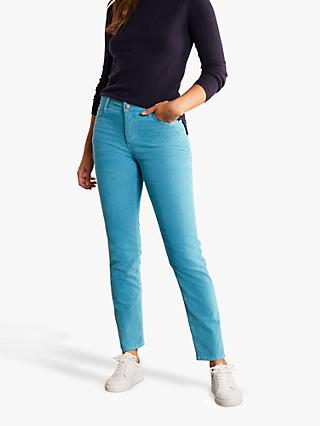 Boden Cord Slim Straight Jeans, Lomond Blue