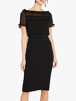 Damsel in a Dress Consta Frill Detail Blouse, Black