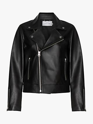 Calvin Klein Leather Jacket, Black