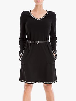 Max Studio V-Neck Dress, Black