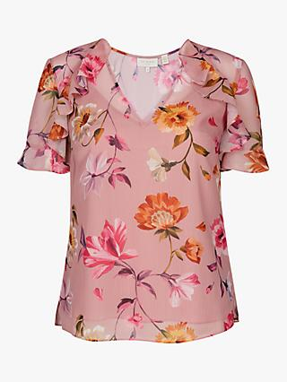 Ted Baker Estelee Floral Top, Natural