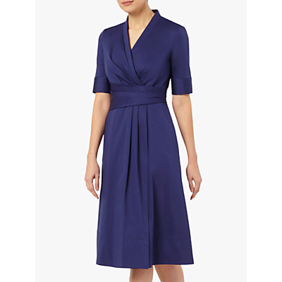 The Fold Leigh Cotton Blend Dress, Indigo Blue