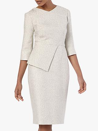 The Fold Eaton Tweed Dress, White