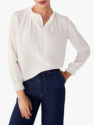 The Fold Tierney Silk Blouse, Ivory