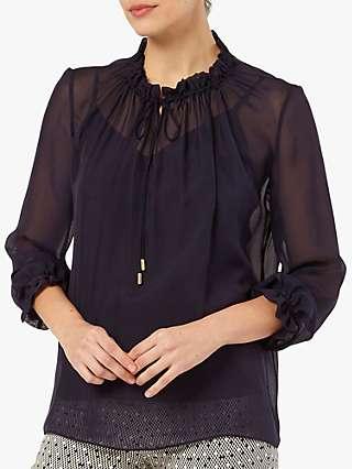 The Fold Lancaster Silk Blouse