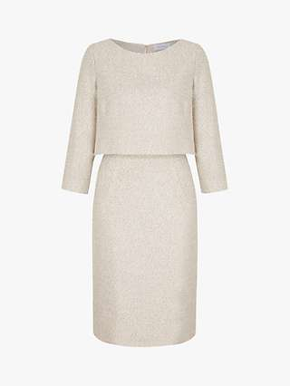 The Fold Northcote Tweed Dress, White