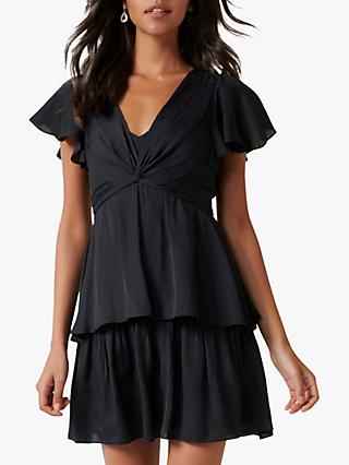 Forever New Siska Twist Front Mini Dress, Black
