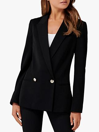 Forever New Dora Double Breasted Blazer, Black