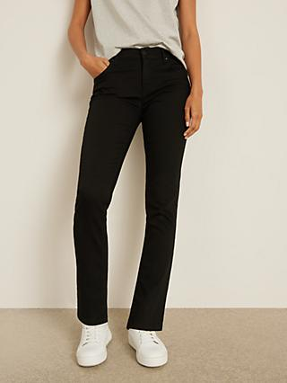 AND/OR Silverlake Straight Leg Jeans, Black