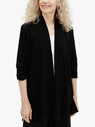 EILEEN FISHER Tencel Rib Jacket, Black