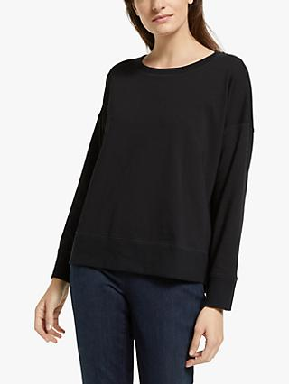 EILEEN FISHER Organic Cotton Sweatshirt, Black