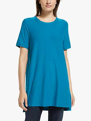 EILEEN FISHER Crepe Short Sleeve Tunic Top