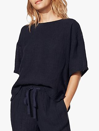 EILEEN FISHER Organic Linen Top, Ink