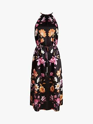Ted Baker Megarra Rhubarb Floral Halter Neck Midi Dress