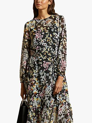 Ted Baker Rishika Floral Maxi Dress, Black