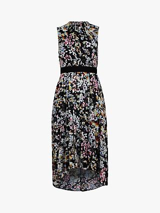 Ted Baker Malorie Floral Print Dress, Black/Multi