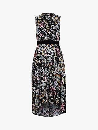 Ted Baker Malorie Floral Print Dress, Black/Multi