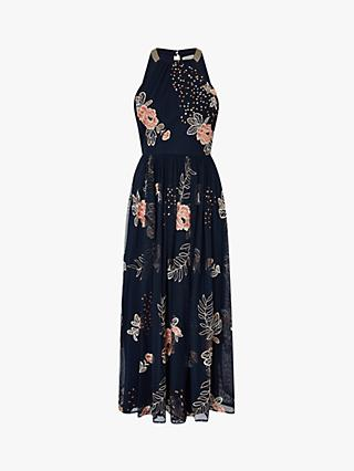 Monsoon Ellen Dress, Navy